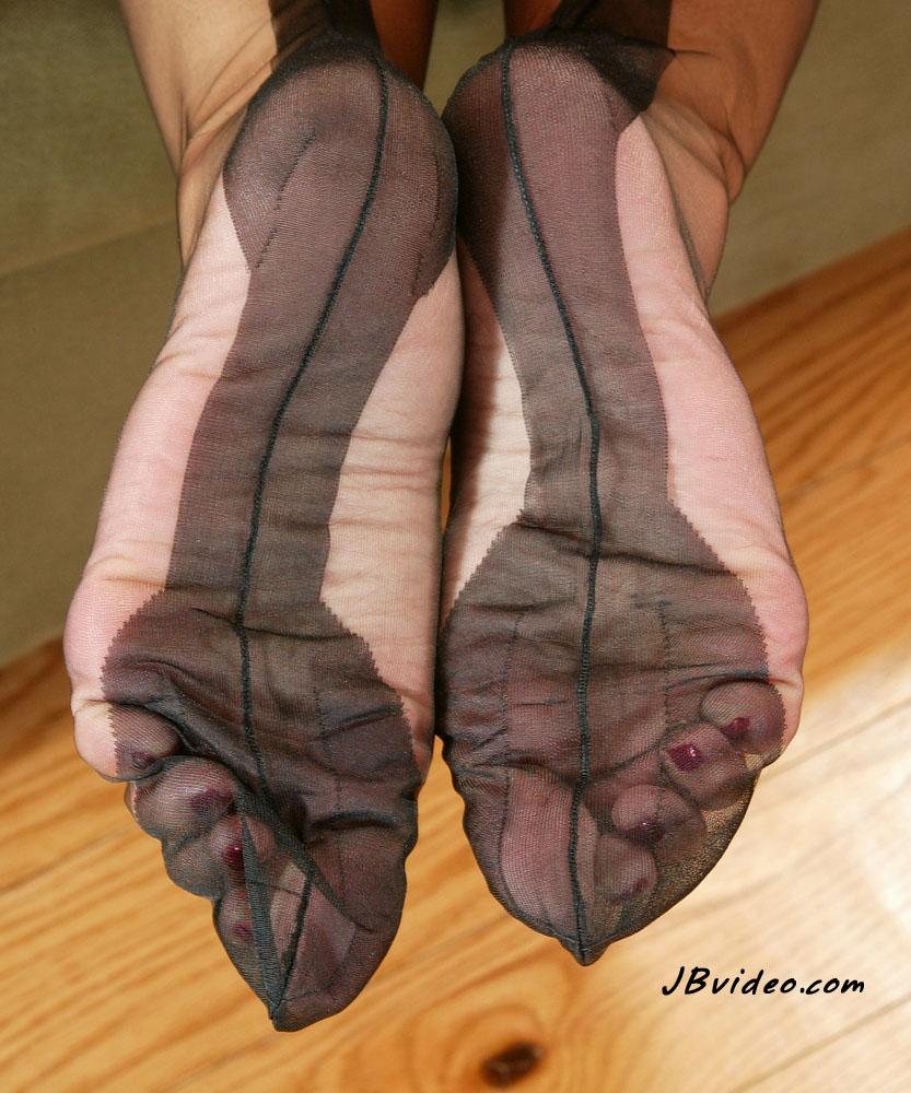 fetish foot leg sex stocking